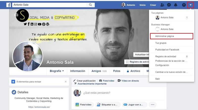 Facebook empresas: administrar pagina