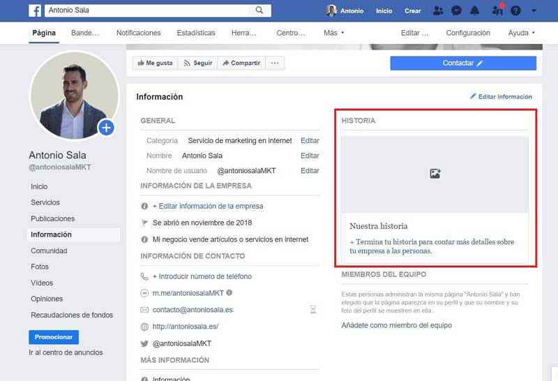 Facebook-empresas-historia